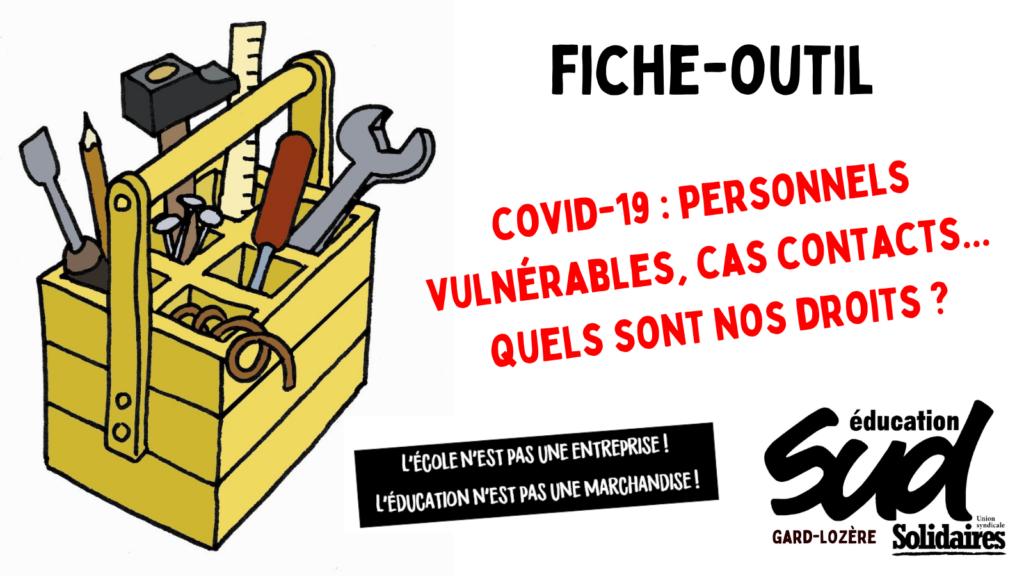 Covid-19 – Personnels vulnérables, cas contacts : vos droits
