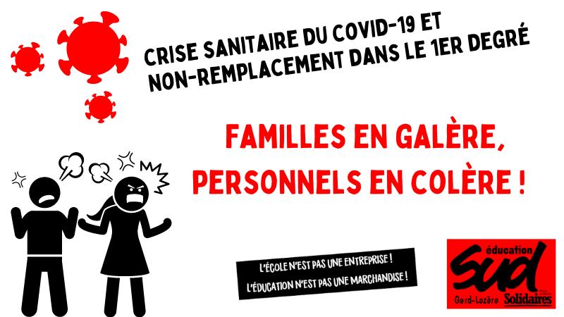 SUD Education Gard-Lozère continue de dénoncer le non-remplacement des professeur·e·s des écoles