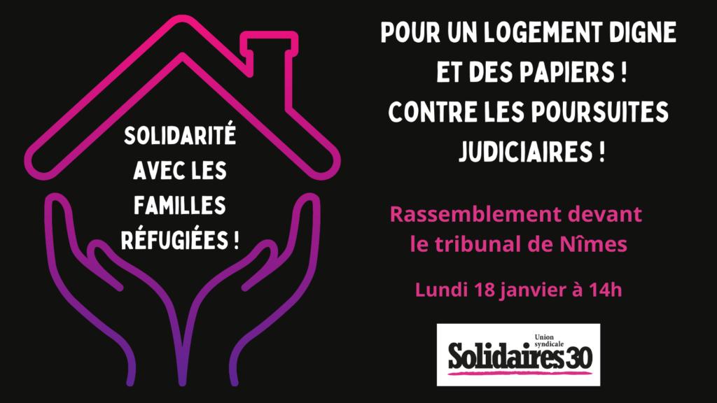 Tou·te·s au palais de justice de Nîmes, lundi 18 janvier à 14h !