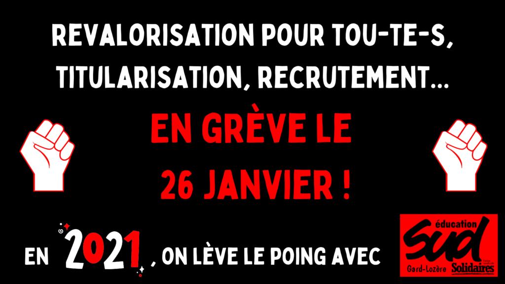 Appel de l'intersyndicale du Gard à la grève du 26 janvier