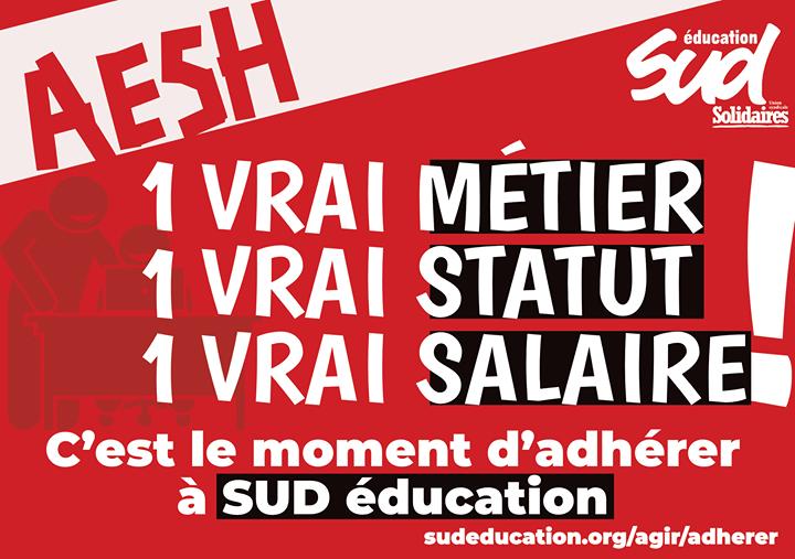Rejoignez l'acte II de la mobilisation des AESH !