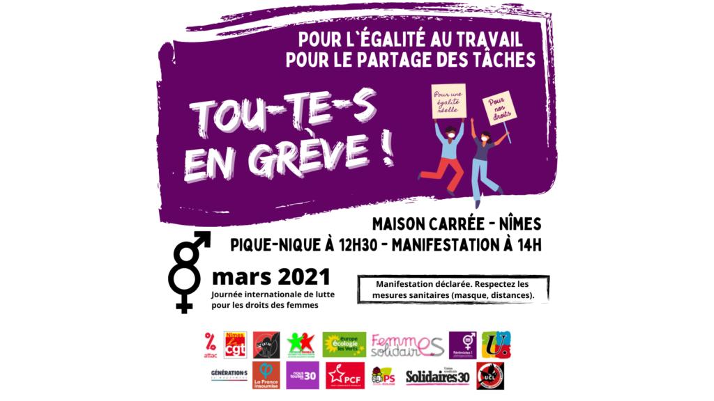 Tou-te-s en grève le 8 mars !