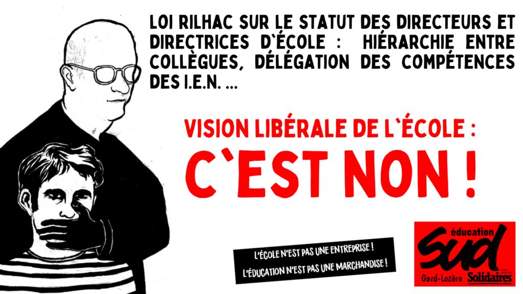 Loi Rilhac : SUD éducation Gard-Lozère dénonce une vision libérale de l'école
