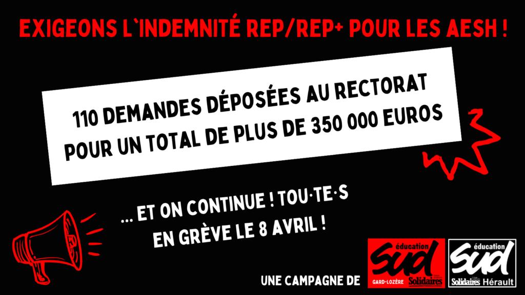 Prime REP/REP+ pour les AESH : la mobilisation continue !