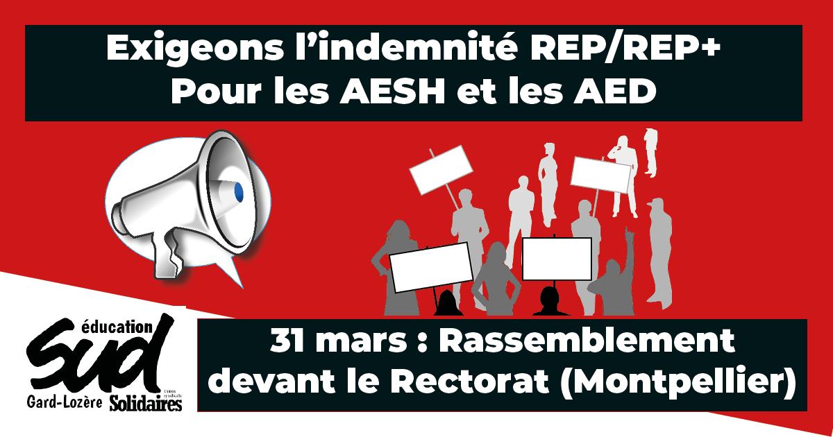 Pour l'indemnité REP/REP+ des AED et AESH !