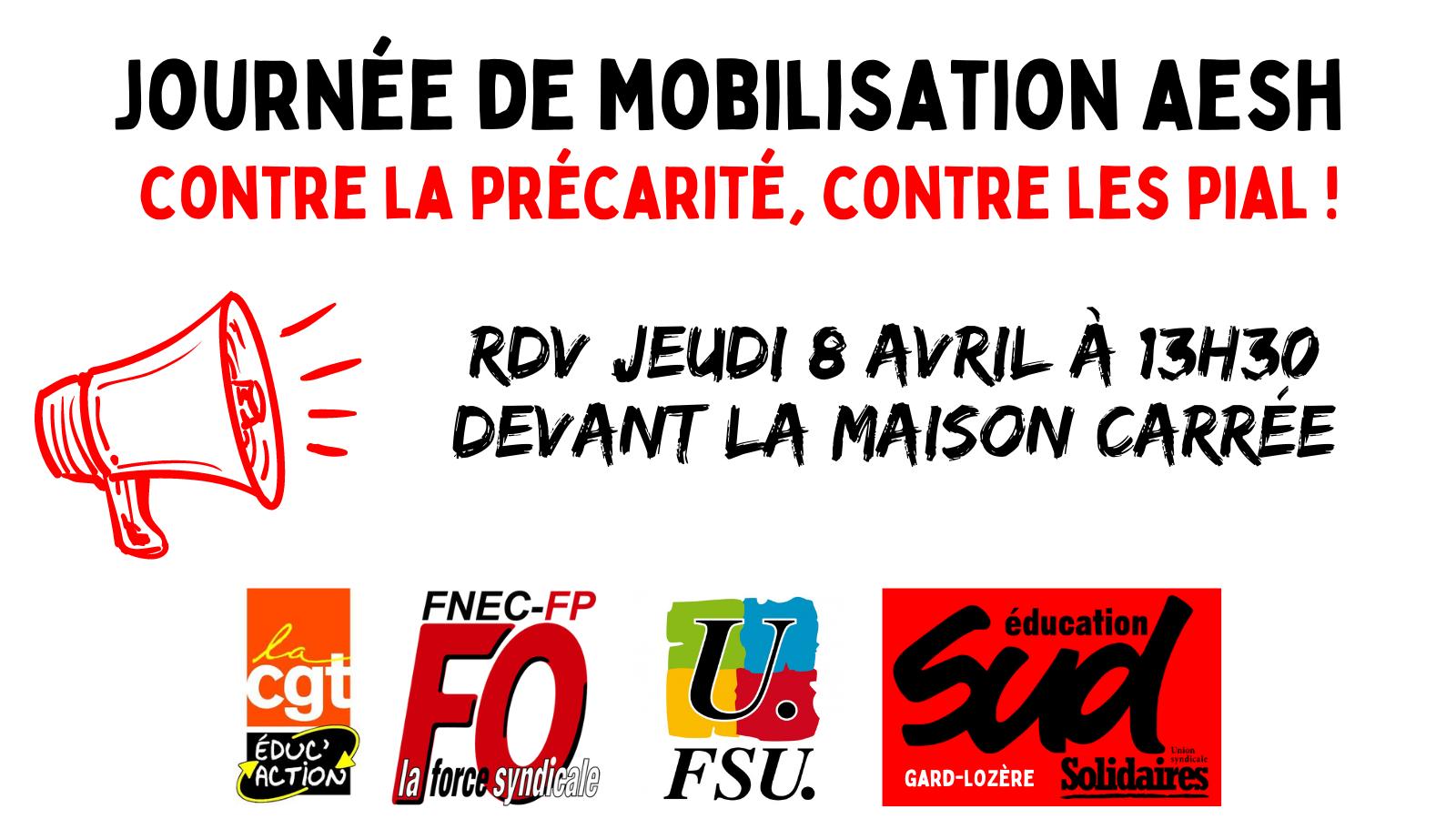 Appel intersyndical à la mobilisation : AESH, contre la précarité, contre les PIAL !