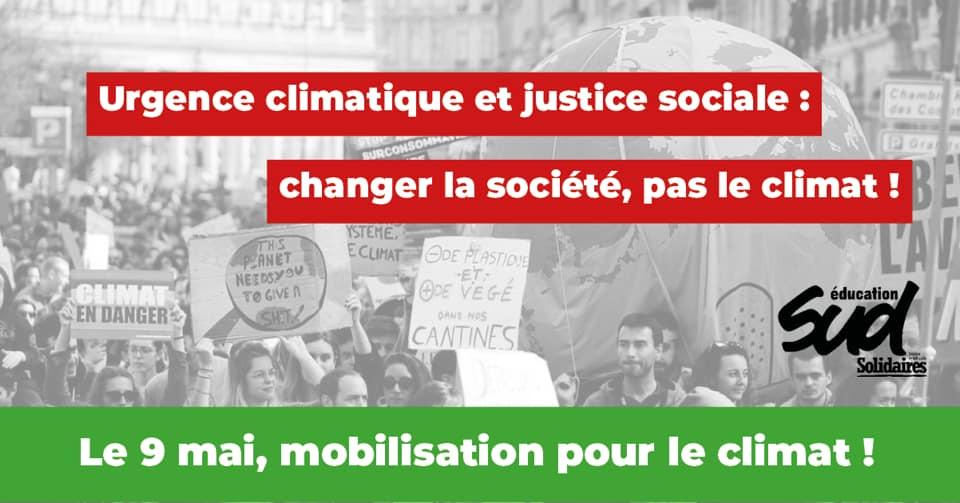 Le 9 mai, mobilisation pour le climat !