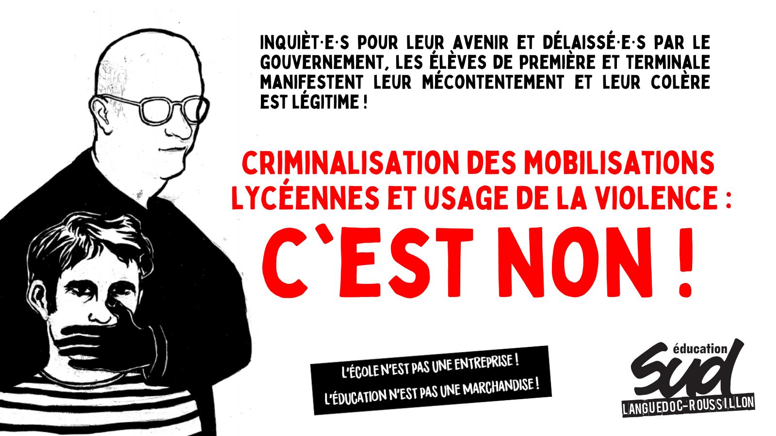 Communiqué académique intersyndical : Non à la criminalisation des mobilisations de lycéen·ne·s et à l'usage de la violence !
