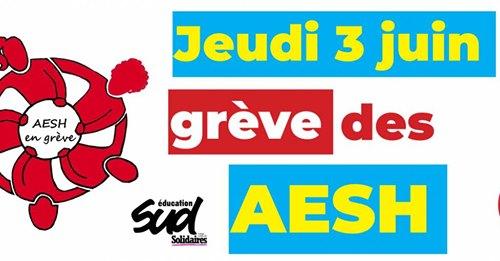 AESH : jeudi 3 juin, toutes et tous en grève et en manifestation  !