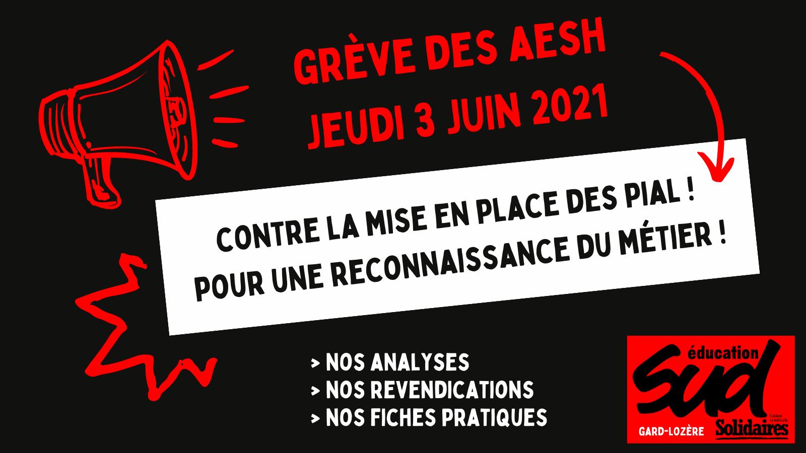 AESH en grève : le 3 juin, faisons entendre nos revendications !