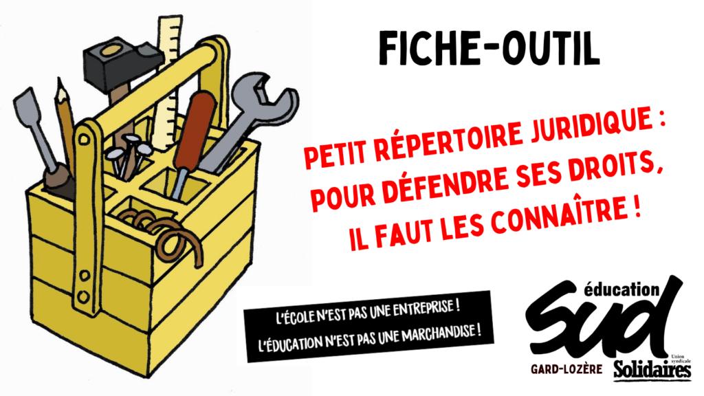 Fiche-outil / Petit répertoire juridique
