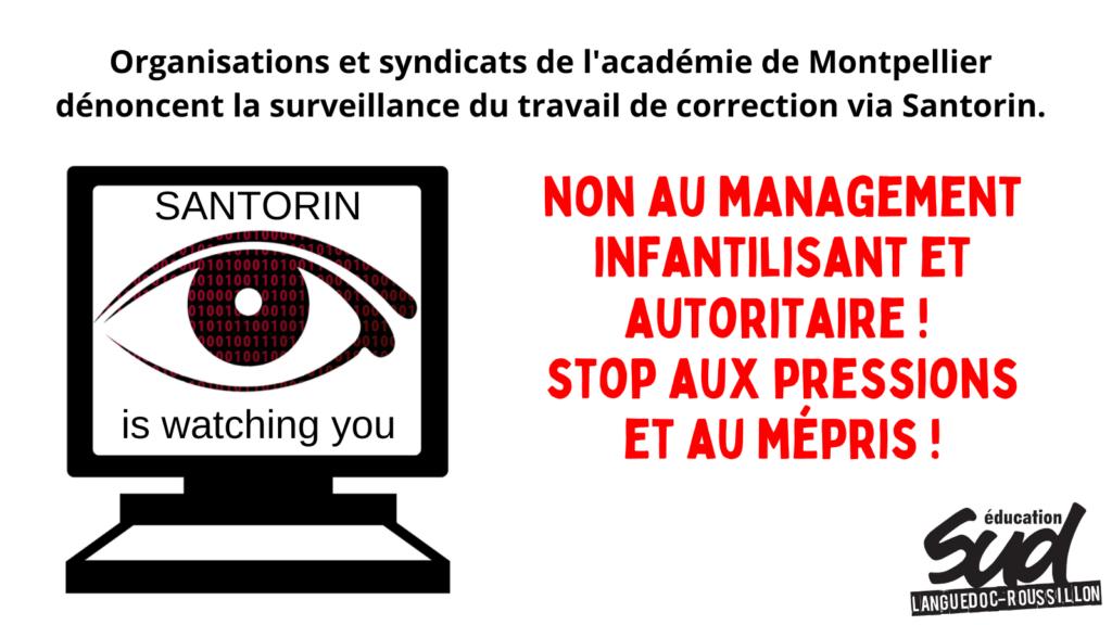 Dénonçons la surveillance du travail de correction via Santorin !