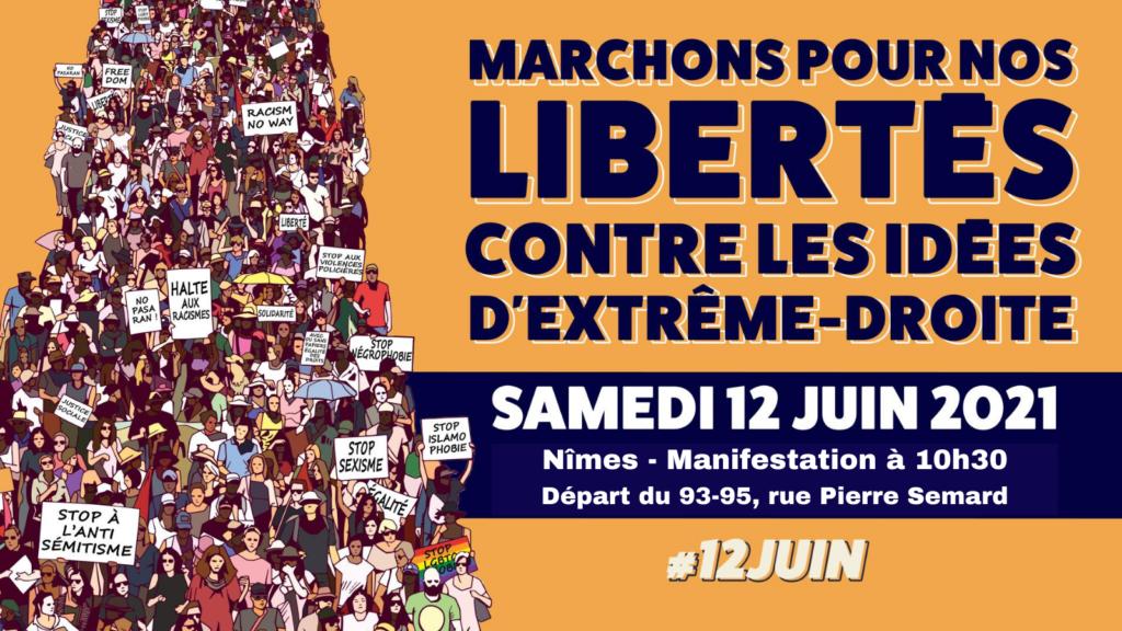 Marchons pour les libertés et contre les idées d'extrême-droite !