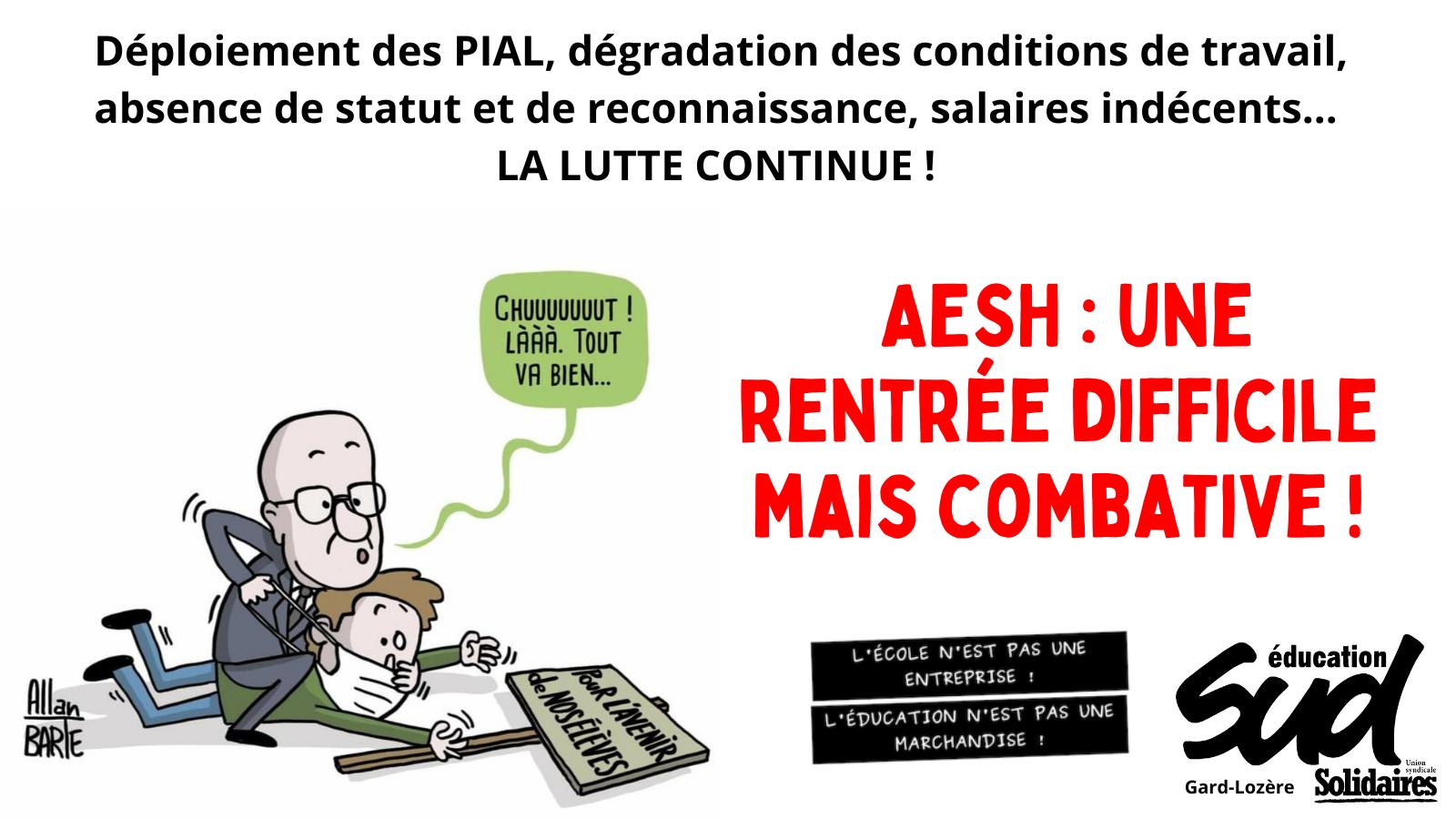 AESH : une rentrée difficile mais combative !