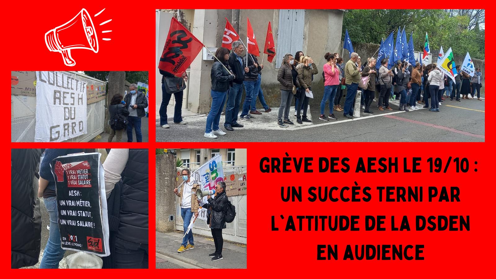 Grève AESH du 19 octobre : un succès en demi-teinte