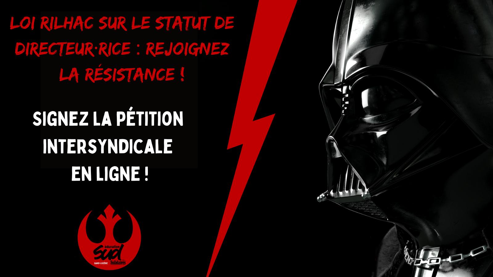 STOP à la loi Rilhac ! Directeur·rice·s, signez la pétition intersyndicale !